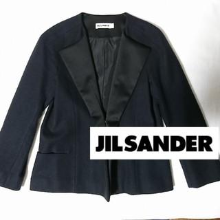 ジルサンダー(Jil Sander)のジルサンダー アンゴラウールジャケット ネイビー紺色(テーラードジャケット)