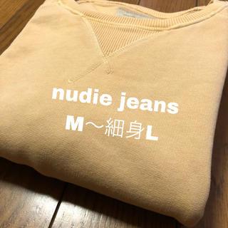 ヌーディジーンズ(Nudie Jeans)のサイズ注意!ヌーディージーンズ 古着スウェット M〜L相当 nudiejeans(スウェット)