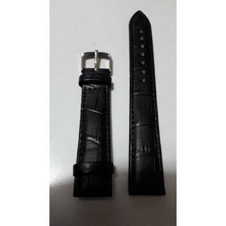 【新品・天然皮革ベルト】ラグ幅18mm 黒色 皮革ベルト♪(レザーベルト)