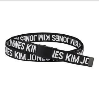 キムジョーンズ(KIM JONES)のBLACK KIM JONES GUキム ジョーンズ コラボ ワイドガチャベルト(ベルト)