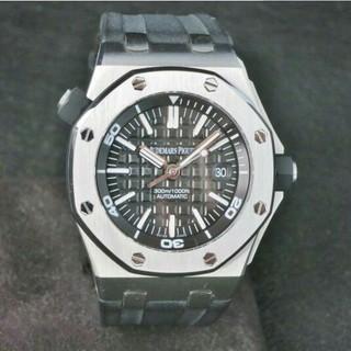 オーデマピゲ(AUDEMARS PIGUET)のオーデマピゲ 黒 ブラックラバー15703ST.OO.A002CA.01(腕時計(アナログ))