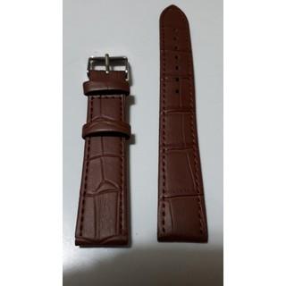 【新品・天然皮革ベルト】ラグ幅18mm 茶色 皮革ベルト♪(レザーベルト)
