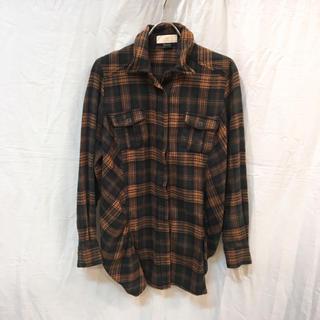 ジェットレーベル(JET LABEL)のJet Label ジェットレーベル ネルチェックシャツ キャメル/グリーン(シャツ/ブラウス(長袖/七分))