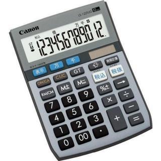 キャノン 電卓 12桁 ミニ卓上サイズ 時間計算 千万単位機能 新品(OA機器)