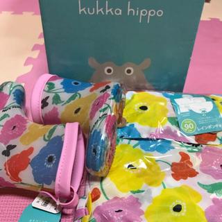 クッカ(kukkA)の新品未使用!kukka レインブーツ、ポンチョ (レインコート)