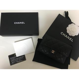 シャネル(CHANEL)のシャネル ミディアムサイズ  サイフ ブラック(財布)