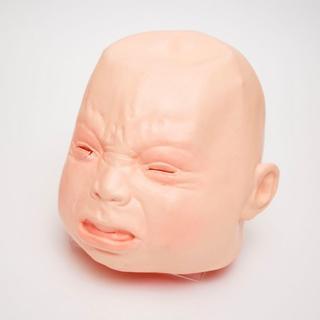【除菌済み】リアルマスク 赤ちゃん泣き顔(男女兼用)(衣装)