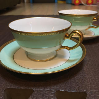 オオクラトウエン(大倉陶園)の大倉陶園メイグリーンカップ&ソーサー6客セット(グラス/カップ)