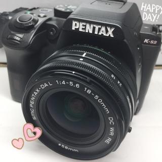 オリンパス(OLYMPUS)の★wifi機能付き★PENTAX デジタル一眼レフ K-S2 レンズキット(ミラーレス一眼)