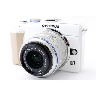 オリンパス(OLYMPUS)の★Wi-Fi簡単転送★OLYMPUS オリンパス E-PL1s ホワイト レンズ(ミラーレス一眼)