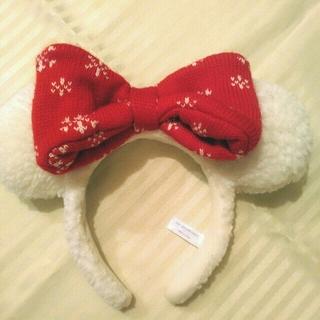 Disney - 【2018クリスマス限定】スノー ミニー カチューシャ