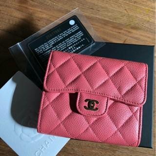 シャネル(CHANEL)の【新品】CHANEL ショート財布 ライトピンク(財布)