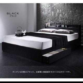 限定特価!超人気 マットレス付き収納ベッド シングル(セミダブルベッド)