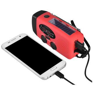 (激安)防災ライトAM/FM /WB USB充電手回充電(防災関連グッズ)