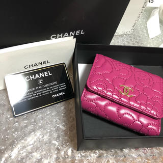 シャネル(CHANEL)のシャネル カメリア 三つ折財布 新品(財布)