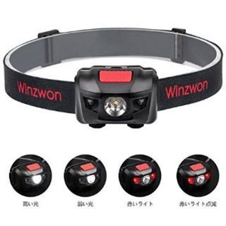 ★即日発送★ 小型 軽量 LED ヘッドライト 電池付属(ライト/ランタン)