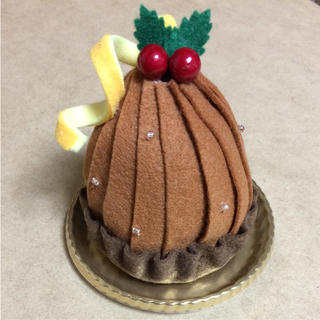 フェルトのクリスマスケーキ(おもちゃ/雑貨)