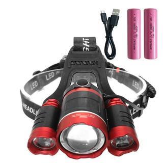 10000ルーメン LEDヘッドライト USB 充電式(ライト/ランタン)