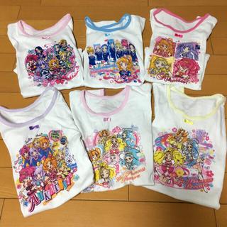 バンダイ(BANDAI)の子供服 女の子 まとめ売り 120 インナー Tシャツ アイカツ! プリキュア (下着)