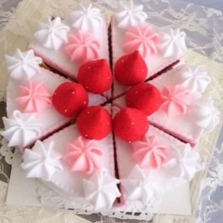 フェルトケーキ   フェルトままごと  クリスマスケーキ(おもちゃ/雑貨)