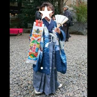 ☆値下げ 七五三 5歳 男の子 袴(和服/着物)