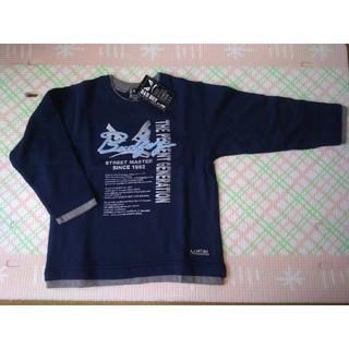 バッドボーイ(BADBOY)のタグ付 新品 BAD BOY バットボーイ トレーナー 110 綿100% 紺 (Tシャツ/カットソー)