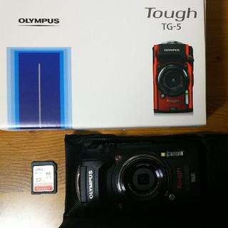 オリンパス(OLYMPUS)のほぼ新品 オリンパス TG-5 SD付き(コンパクトデジタルカメラ)
