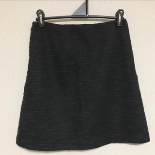 ジーユー(GU)のgu 黒ツイードラメスカート(ミニスカート)