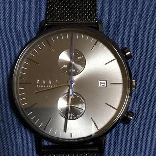 ノット(KNOT)のknot cc-39 クロノグラフ ブラック 時計 腕時計(腕時計(アナログ))