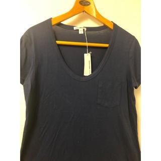 ジェームスパース(JAMES PERSE)のタグ付き James Perse ネイビー Tシャツ ウィメンズ サイズ1(Tシャツ(半袖/袖なし))