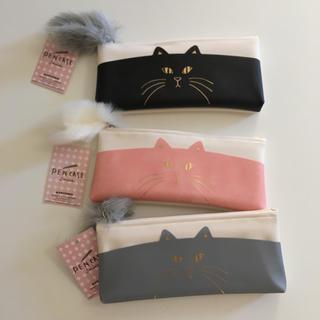 猫 ペンケース 3個セット(ペンケース/筆箱)