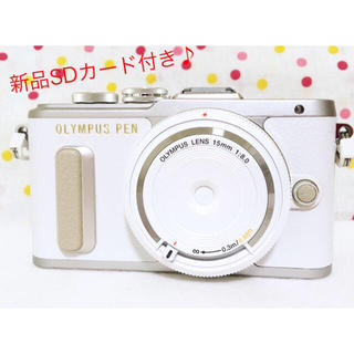 オリンパス(OLYMPUS)のセール 新品❤️PEN Pl8 オリンパス レンズセット ホワイト 人気(ミラーレス一眼)