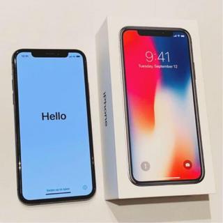 アイフォーン(iPhone)のiPhoneX 64GB スペースグレイ(スマートフォン本体)