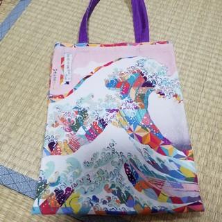北斎×エンライトメント トートバッグ 浪  (絵画/タペストリー)