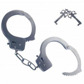 新品★おもちゃの手錠 鍵付き(小道具)