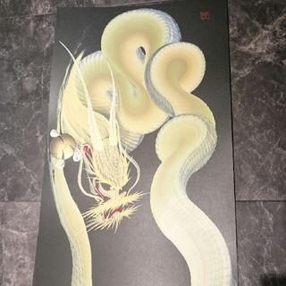 一筆龍  色彩 250×500 額付(絵画/タペストリー)