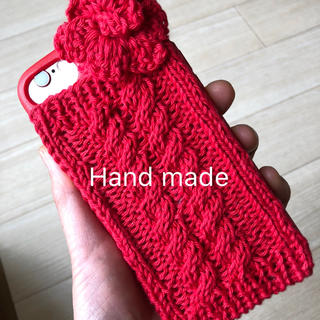 iPhone - iPhone7/8ケース   ニット hand made(・x・)/