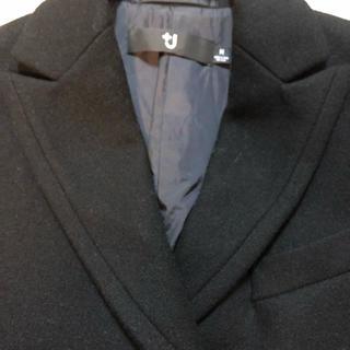 ジルサンダー(Jil Sander)のジル・サンダー&UNIQLO コラボ 細身のチェスターコート 黒(チェスターコート)