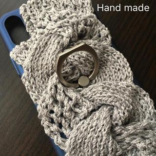 iPhone - iPhoneX ケース   ラメ入りニット hand made(・x・)/
