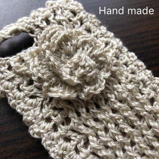 iPhone - iPhone7/8ケース   ナチュラル ニット hand made(・x・)/
