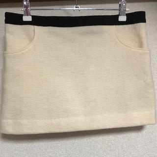 ジュエルズシーク(JewelsSeek)のミニスカート   ウール&アンゴラ 日本製 サイズ38(ミニスカート)