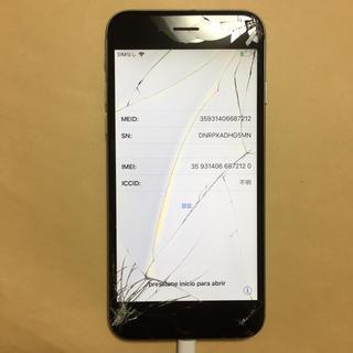 アイフォーン(iPhone)のAU iPhone6 16gb 液晶割れ ジャンク(スマートフォン本体)