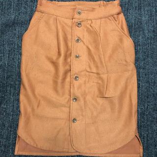 ダブルクローゼット(w closet)のW closet オレンジ タイトスカート(ひざ丈スカート)