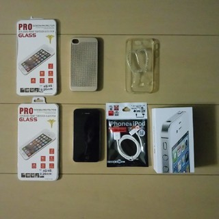 アイフォーン(iPhone)のiphone 4s おまけ多数(スマートフォン本体)