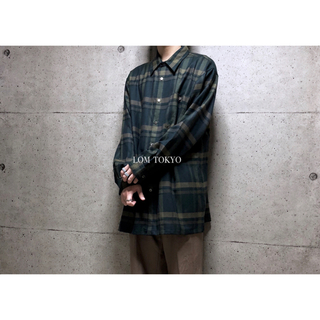 [used]'RAIKA' LL green plaid  wool shirt(シャツ)
