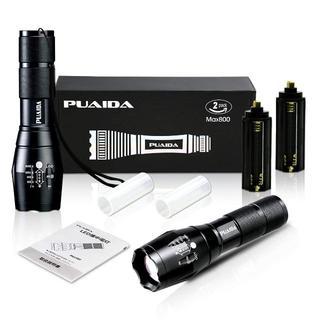 新品  PUAIDA LED懐中電灯 強力 超高輝度 アウトドア ライト 2個(ライト/ランタン)