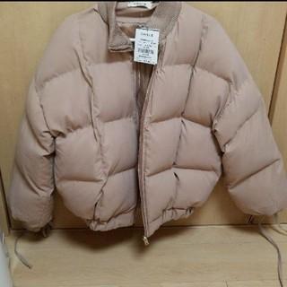 チルアナップ(CHILLE anap)の新品タグ付き♡ANAP 袖リボンショート丈中綿コート(ブルゾン)