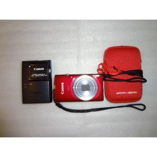 キヤノン(Canon)のCanon IXY150 レッド 動作確認済 ケース付き!!2(コンパクトデジタルカメラ)