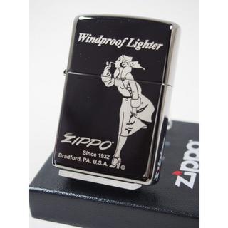ジッポー(ZIPPO)のZippo Windy ウィンディー ガール ブラックアイス #150-2(タバコグッズ)
