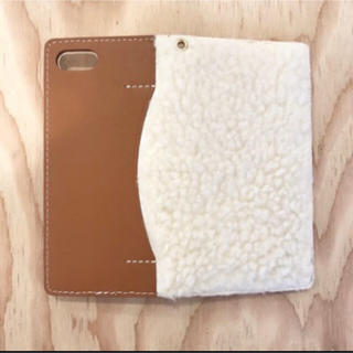 トゥデイフル(TODAYFUL)のtodayful Boa i-Phone Case キャメル 7用(iPhoneケース)